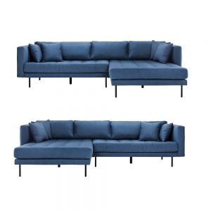 Cali sofa m/vendbar chaiselong – stof