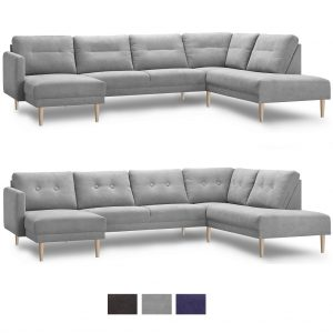 Chicago hjørnesofa m/chaiselong & open-end – stof