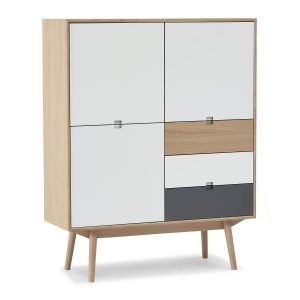 City highboard m/3 låger og 3 skuffer – L 110 cm