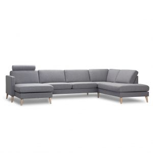 Elm U-sofa m/open-end – hurtig levering