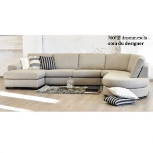More modulsofa m/open-end & chaiselong