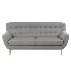 Oswald 3. pers. sofa – lysegrå stof