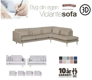 Artmodul sofa m/open-end – stof